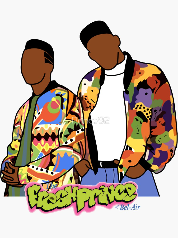 Fresh Prince Sticker By Prince92 Redbubble Fresh Prince Fresh Prince Of Bel Air Prince Of Bel Air