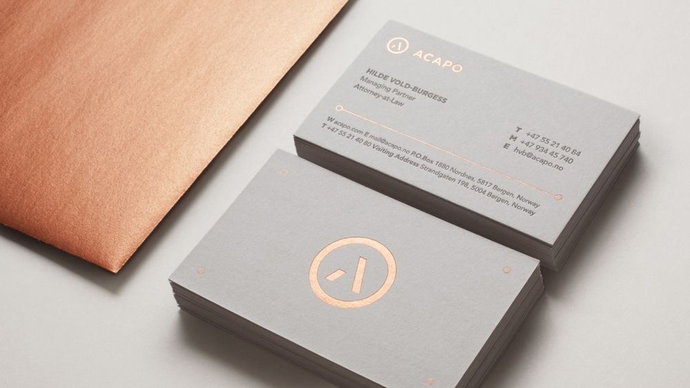 Brand New New Logo And Identity For Acapo By Anti Lawyer Business Card Architecture Business Cards Foil Business Cards
