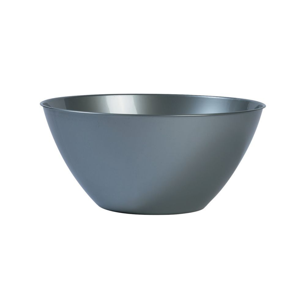 Large Silver Plastic Serving Bowl Serving Bowls Plastic Silver