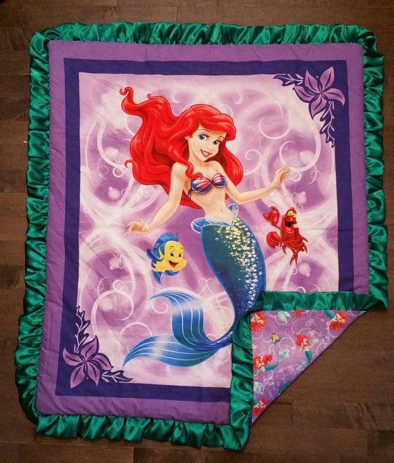 The Little Mermaid Minky Blanket by SewInLoveBowtique on Etsy