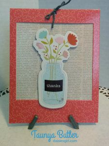 card made by Taunya Butler with the Front Porch collection by Pebbles, Inc.