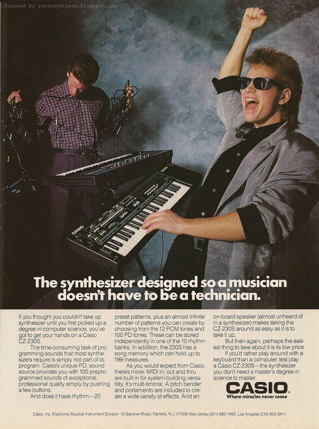 old Casio synth advertisement