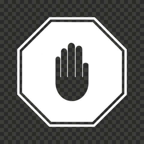 Hd White Stop Hand Sign Icon Symbol Png Symbols Png Signs