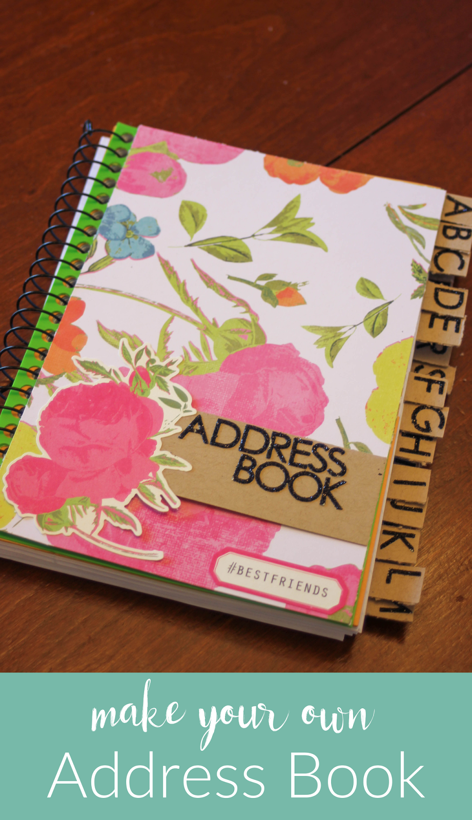 How to make scrapbook using recycled materials - Diy Address Book Little City Adventures