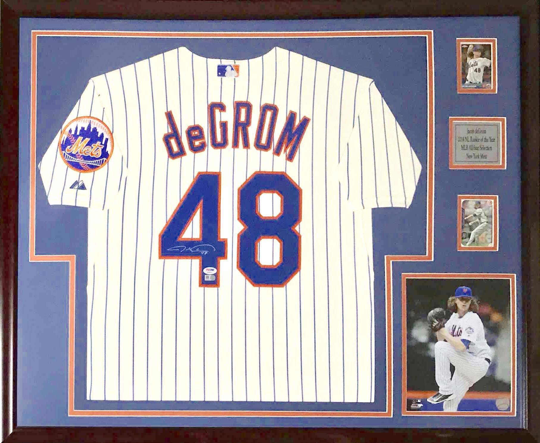 jacobdeGrom #Mets framed jersey #jerseyframing #framedjersey ...
