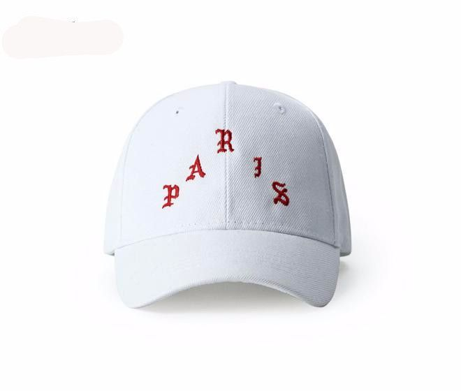 Kanye Paris Hip - Hop Tide Baseball Cap For Men Retro Paris Embroidered Baseball Cap Korean Baseball Caps