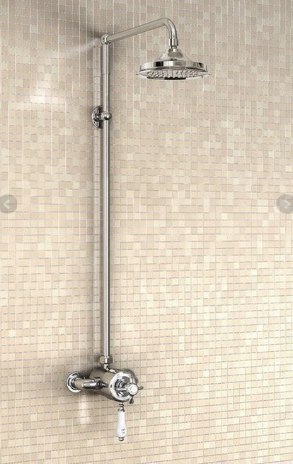Burlington Wye Exposed Traditional Shower Valve, Rigid Riser & Fixed ...