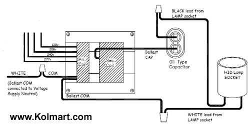 hid ballast wiring diagram 208v mt