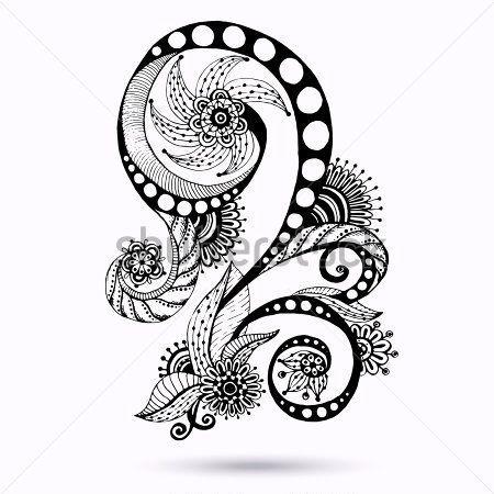 Disegni Astratti Floreali Bianco E Nero Cerca Con Google Art