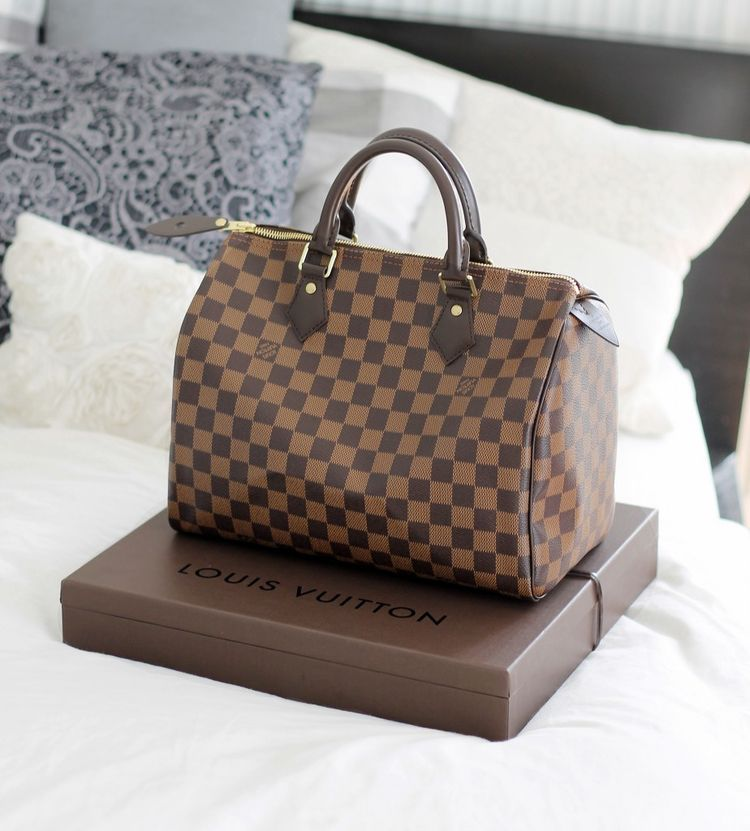 439f2c195d3c Louis Vuitton Speedy 30 Damier Ebene Canvas (The Golden Side Of Life ...