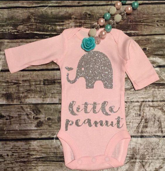 ae935e5dd Baby Girl Clothes, Little Peanut Onesie, Little Peanut Bodysuit ...