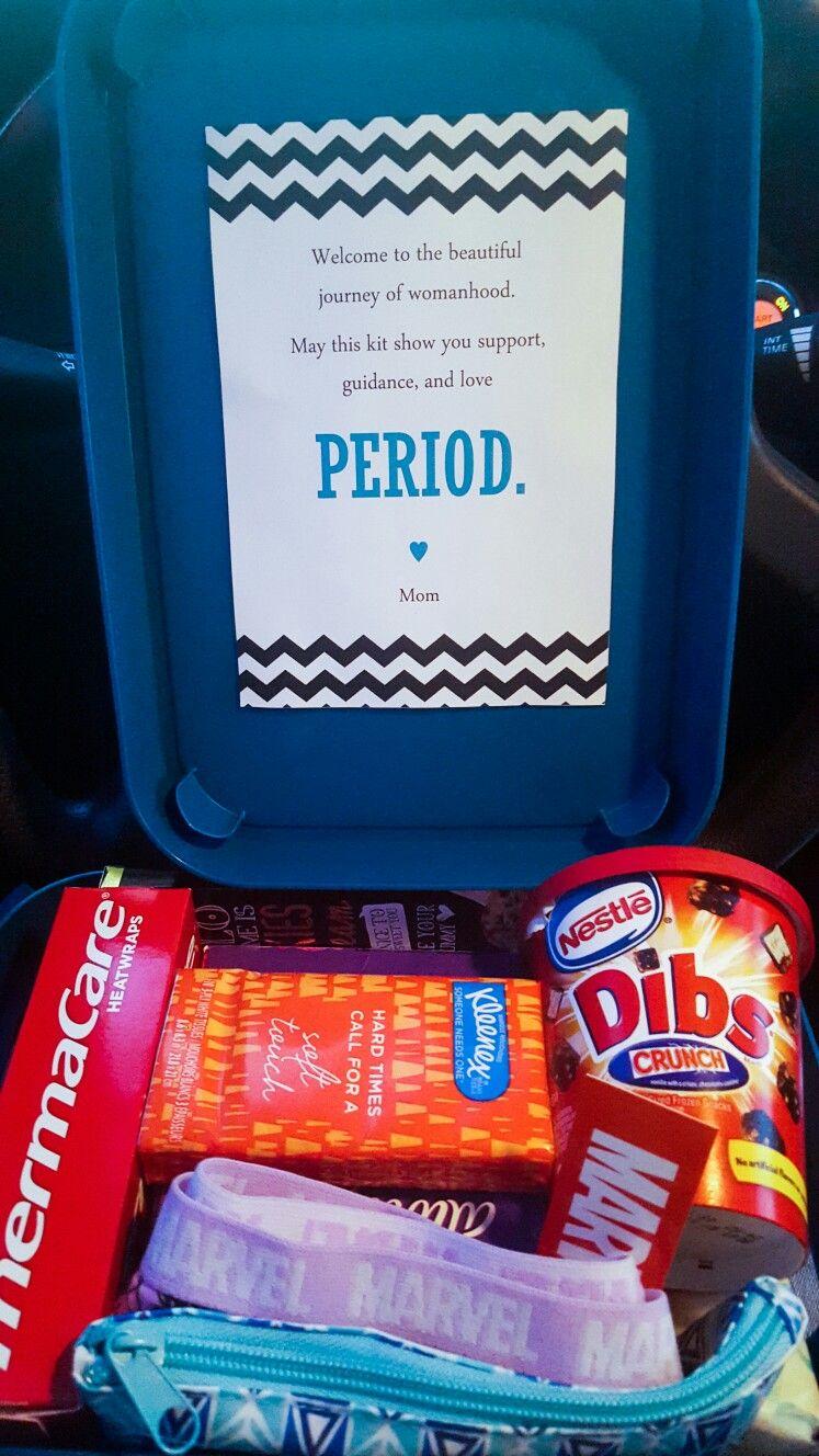 Tweenteen First Period Survival Kit  Note Reads -9464