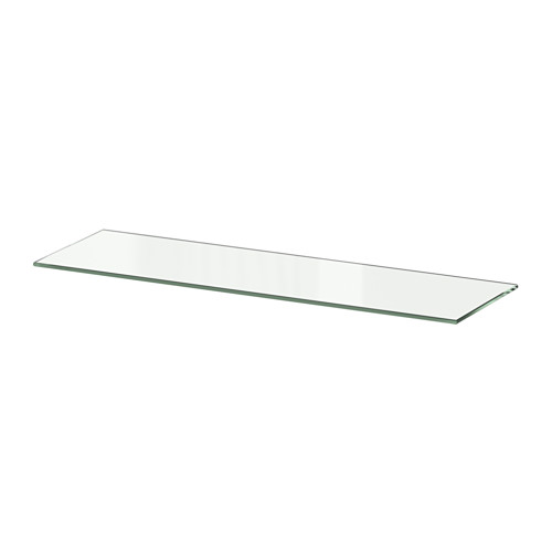 BESTÅ ガラス製棚板, ガラス ガラス 56x16 cm