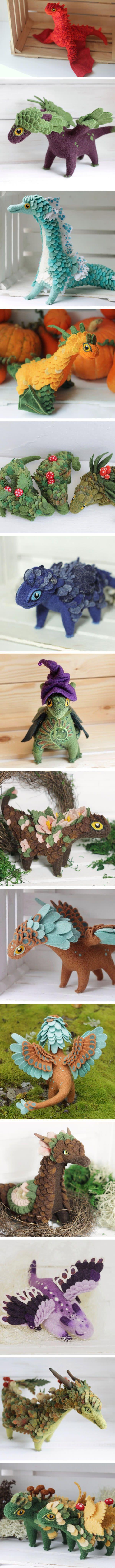 These felt dragons are wonderfully made. (By Alena Bobrova)