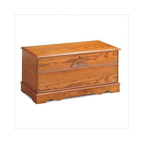 Wolf Creek Cedar Chest With Locking Lid In Oak By Coaster Home Furnishings.  $158.09.
