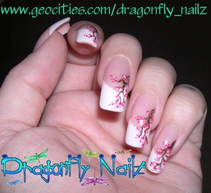 ZoomWedding - Nails - These Japanese Cherry Blossom floral-styled ...