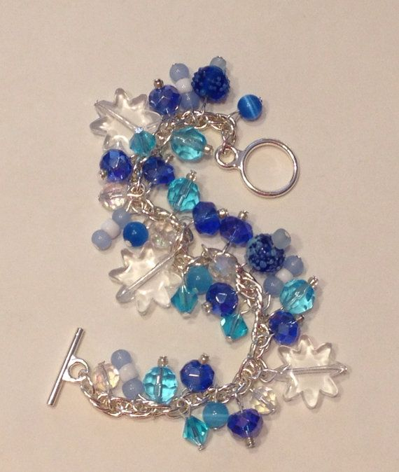Winter Wonderland snowflake beaded charm by TreasureCharmed, $12.00