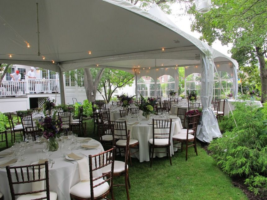 small black and gold afternoon tent wedding reception ...