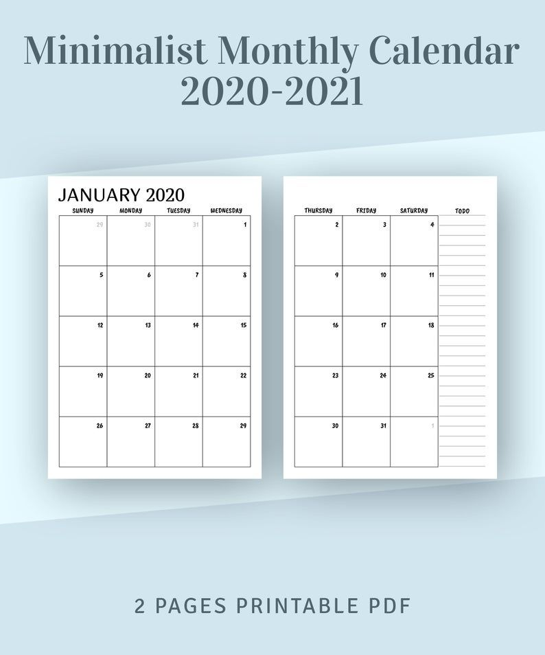 2 Page Monthly Calendar 2022 Printable.Printable Calendar Monthly 2021 2022 Month On Two Page Planner Minimalist Printable Monthly Calendar Template Year Calendar Pdf Insert Monthly Calendar Template Calendar Template Calendar Printables