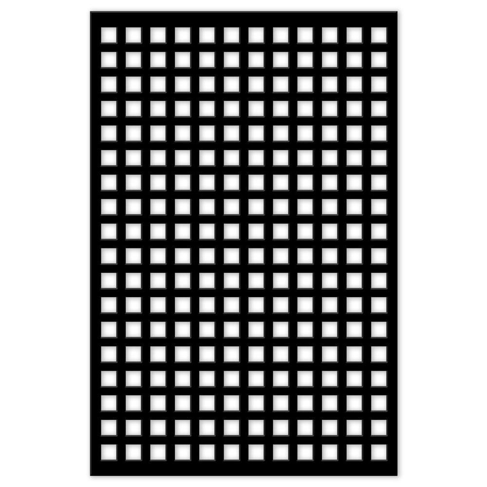 Acurio Latticeworks Square 32 In X 4 Ft Black Vinyl Decorative Screen Panel 3248pvcbk Sqr The H Decorative Screen Panels Decorative Screens Plastic Lattice