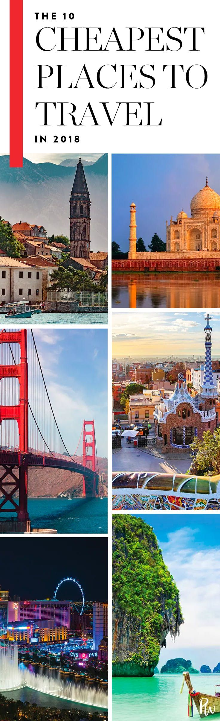 The 10 Cheapest Places to Travel in 2018—You'll Be Surprised #purewow #vacation #scrimp #international #vacation inspiration #travel #airline travel #domestic