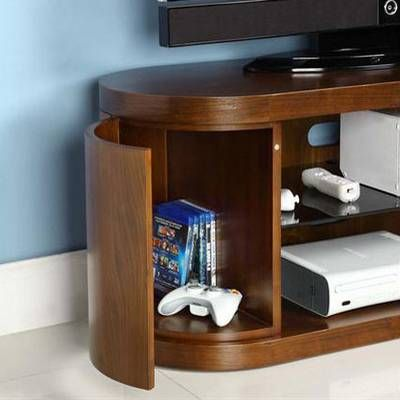 Awesome Jual Furnishings Walnut Curve TV Stand Photo Gallery