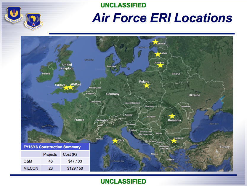 This Map Shows The Approximate Locations Of US Air Forces In - Africa map can fit us and europe