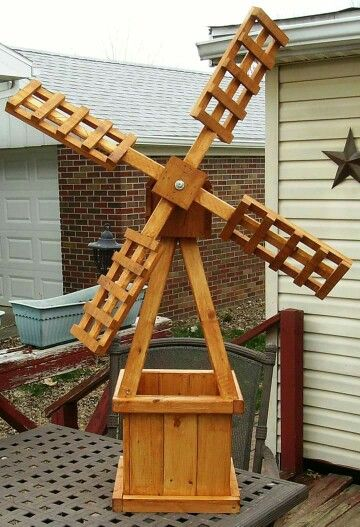 Windmill Planter Wooden Diy Projects In 2019 Diy Wood Projects