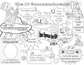 Thou Shalt A Graven Image Coloring Page Ten Commandment