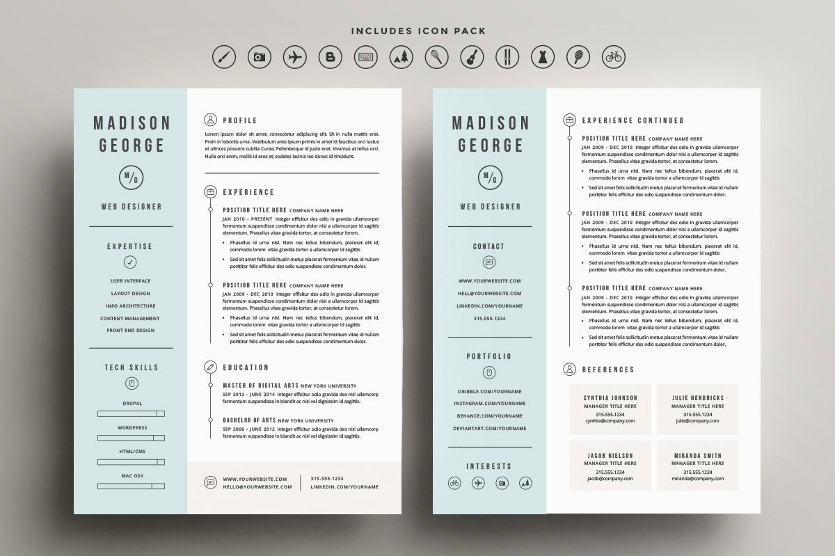 Showcase Of Inspiring Resume Designs    Design You Trust