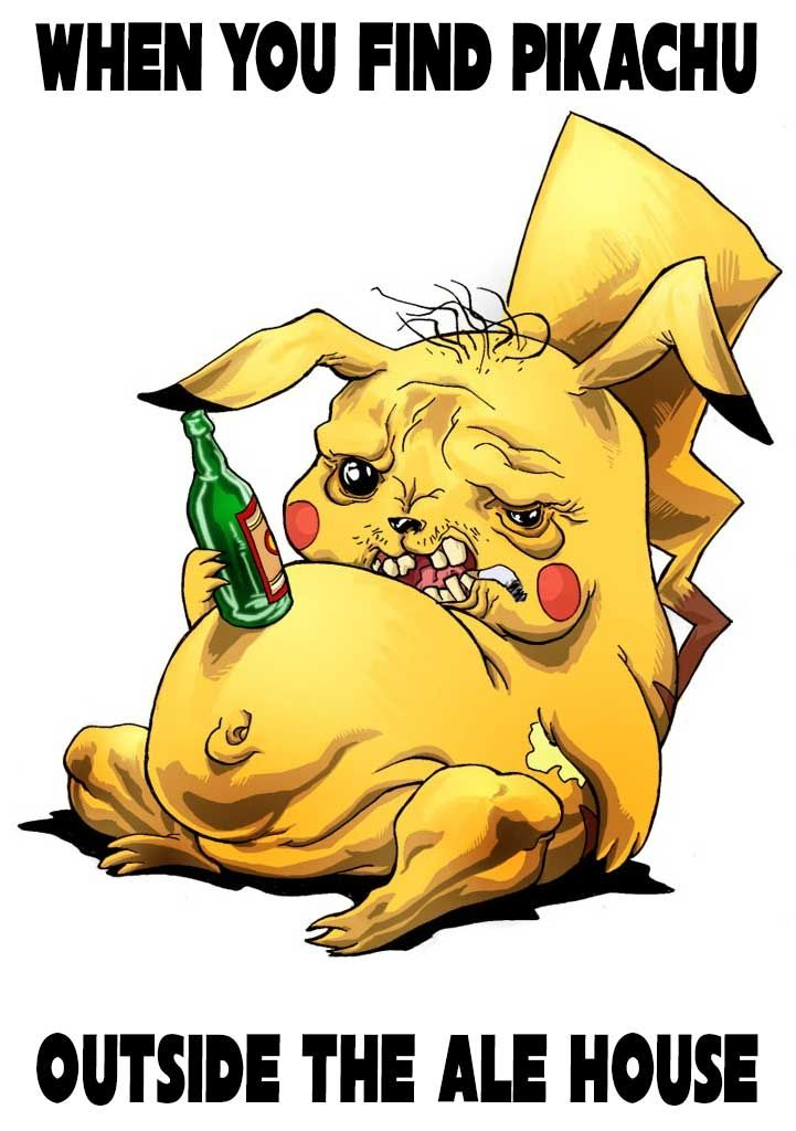 684e30c6a646781852b6391f7d224b4d pikachu outside the ale house meme pokemon go meme www
