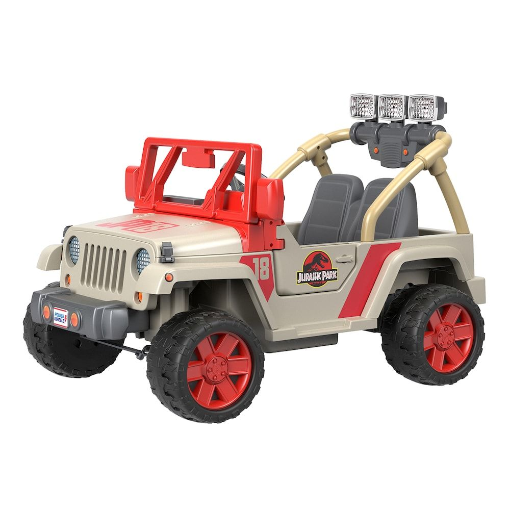 Jurassic Park Jeep Wrangler Ride On Vehicle By Fisher Price Power Wheels Jurassic Park Jeep Power Wheels Jeep Wrangler