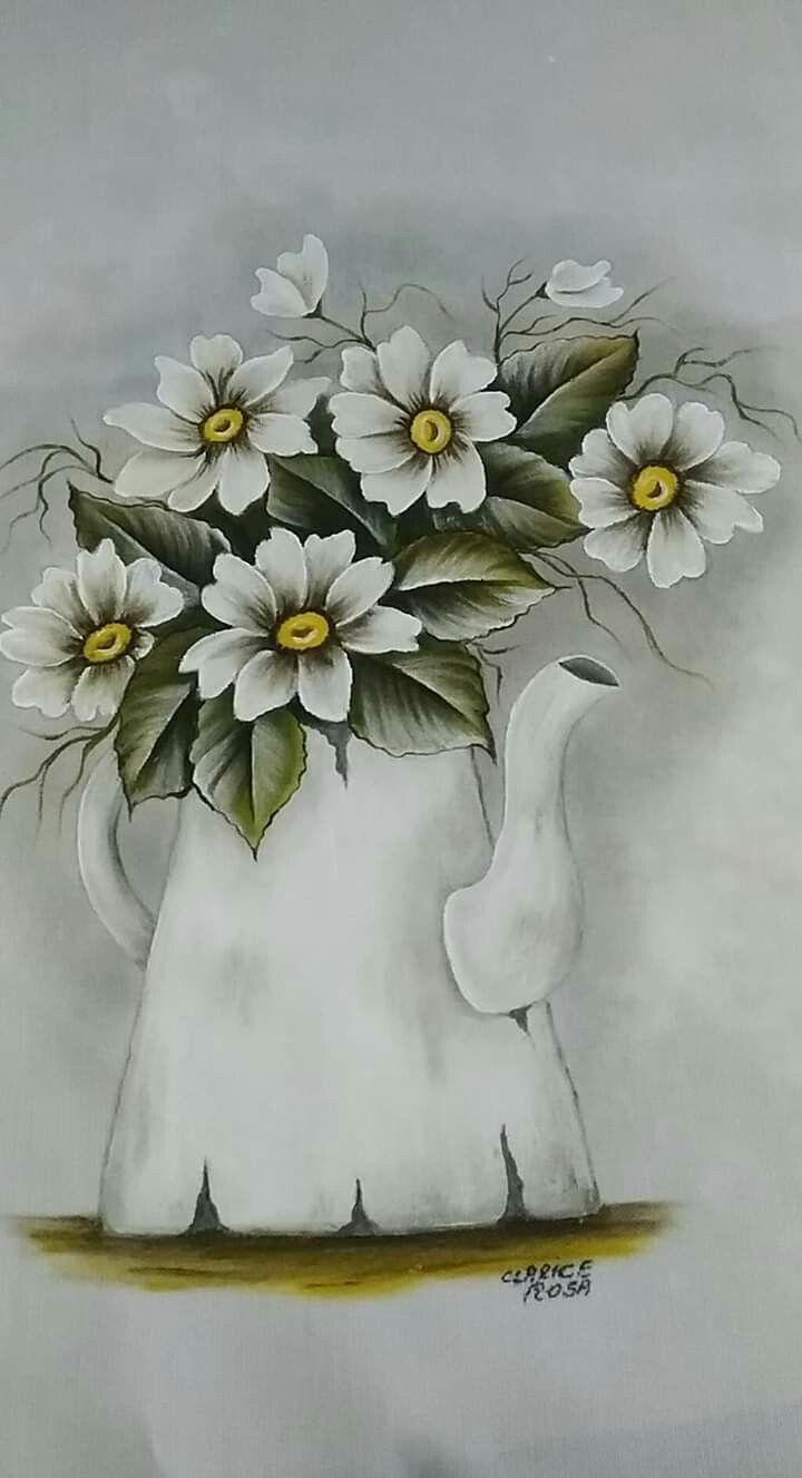 Pin de Cida Forcioni em flores | Pintura em tecido flores ...