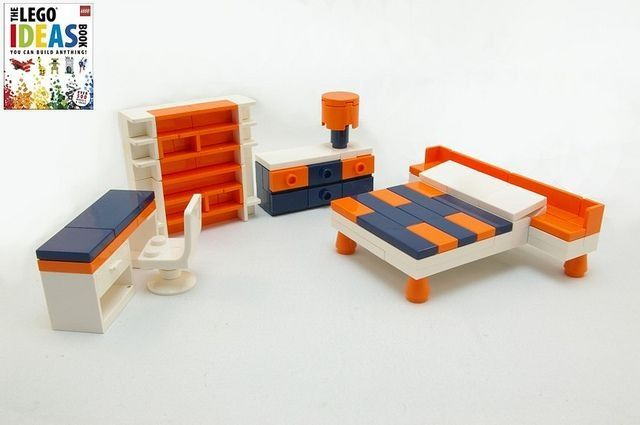 lego bedroom from lego ideas idees