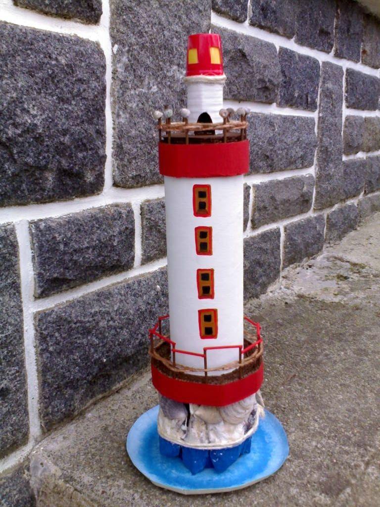 beau phare marin en carton - * briko & déko fait maison *   einhörner