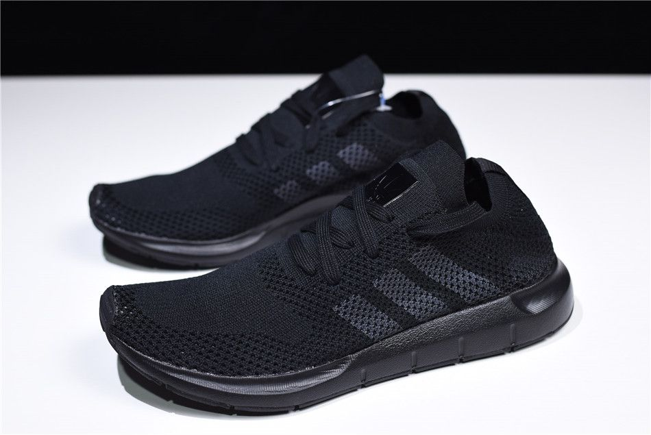 "c26389725 ... 2018 New adidas Originals Swift Run Primeknit ""Triple Black"" Sneaker  CQ2893 ..."
