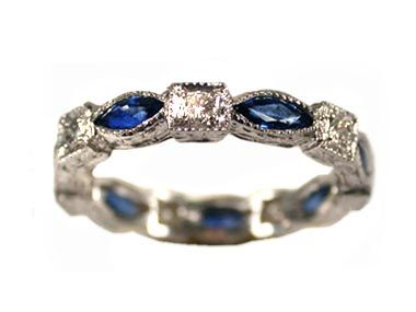 Antique Wedding Rings SAPPHIRE ETERNITY BANDadvance payday loansi