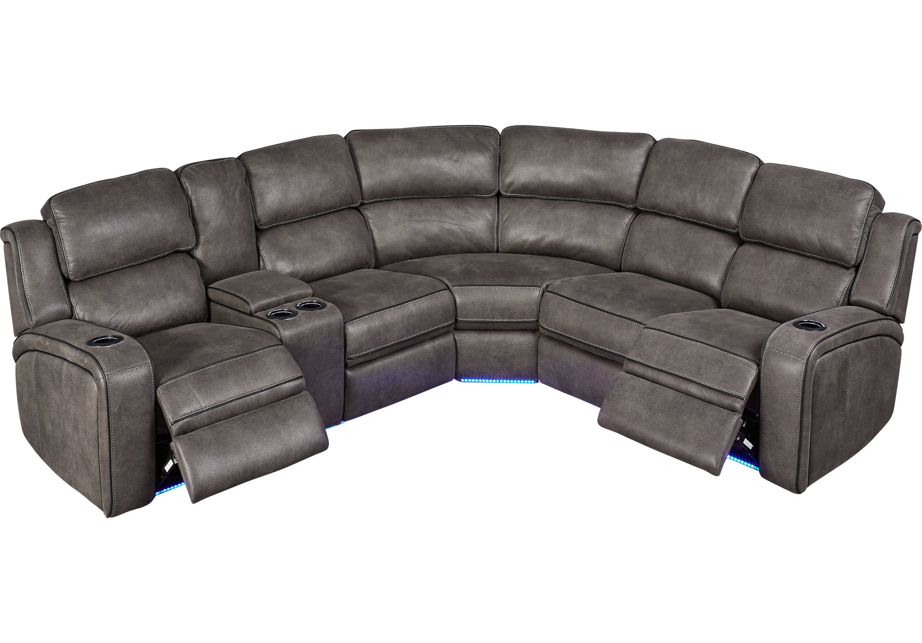 Magnificent Eastview Charcoal 3 Pc Dual Power Reclining Sectional Pdpeps Interior Chair Design Pdpepsorg