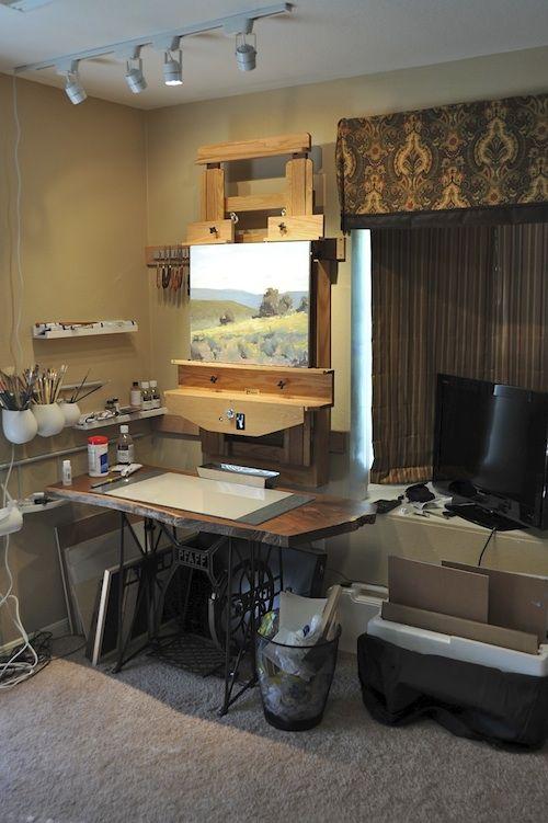 Creating Art In Small Studios Art Studio At Home Art Studio