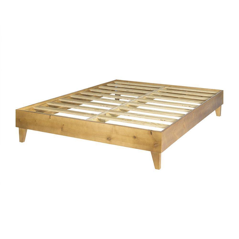 Wooden Platform Bed Frame In 2020 Wooden Platform Bed
