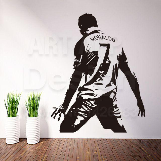Art New Design Home Decor Football Player Vinyl Ronaldo Wall Sticker Removable House Decoration Soccer Cristiano Decals