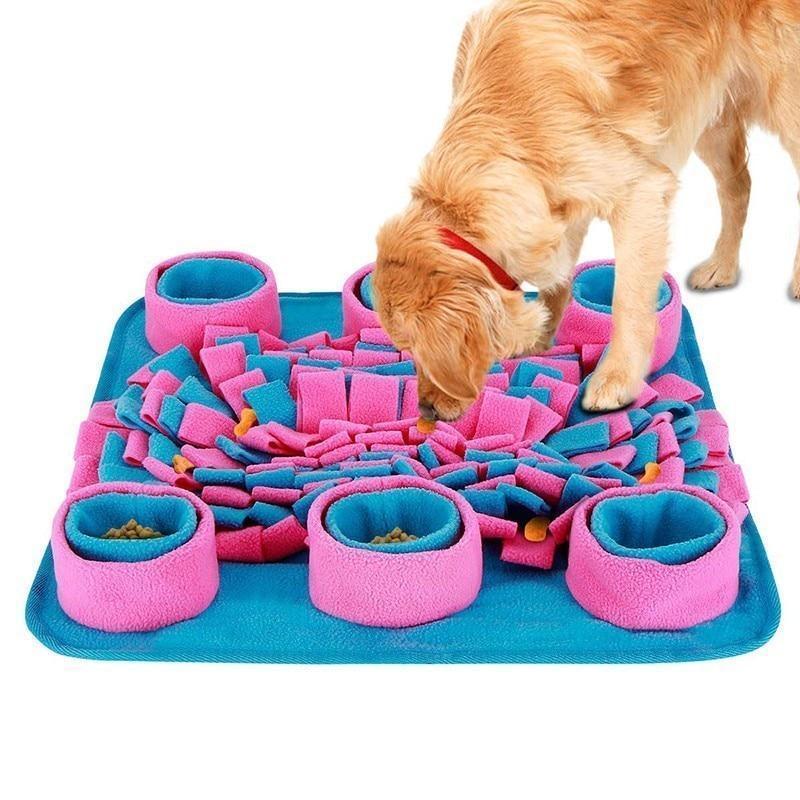 Pet snuffle puzzle training food dispenser mat juguetes