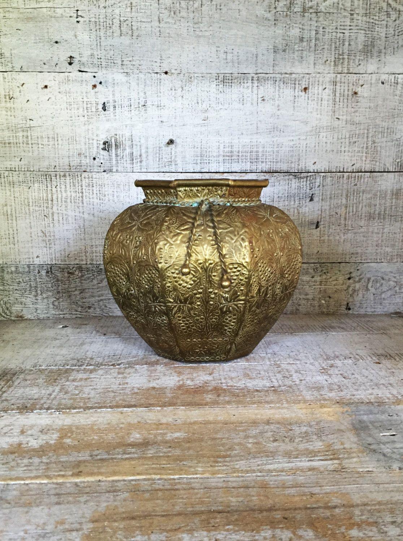 Brass vase large brass vase ornate brass vase embossed flower vase brass vase large brass vase ornate brass vase embossed flower vase mid century reviewsmspy