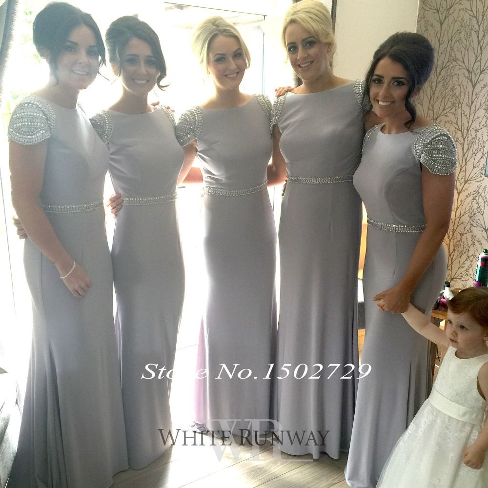Saudi arabic silver grey mermaid bridesmaid dresses plus size long saudi arabic silver grey mermaid bridesmaid dresses plus size long wedding formal dress to party cap ombrellifo Image collections
