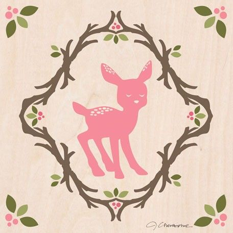 Enchanted forest fawn wall decor for kids by jen christopher for oopsy daisy