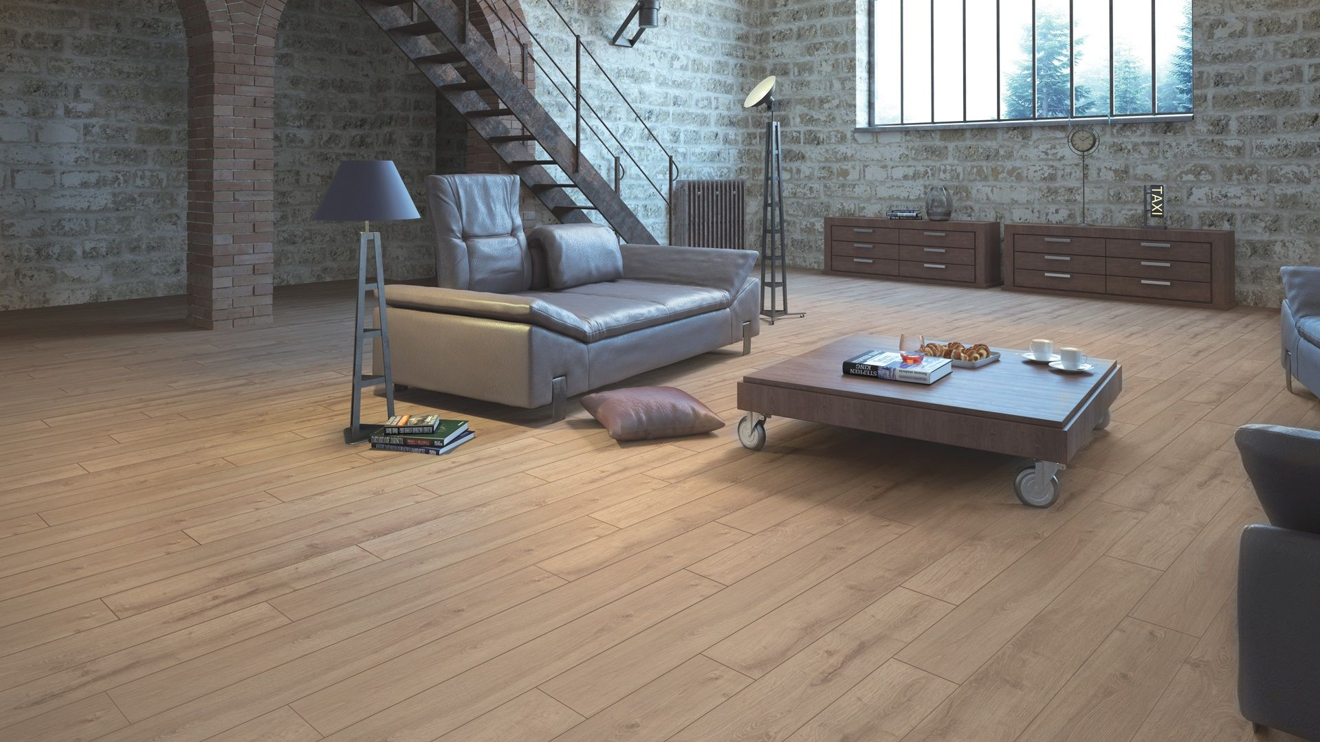 Atlantik Oak 10Mm Ac4 Laminate Flooring 1295Mmx155Mm 1297Sqftbox