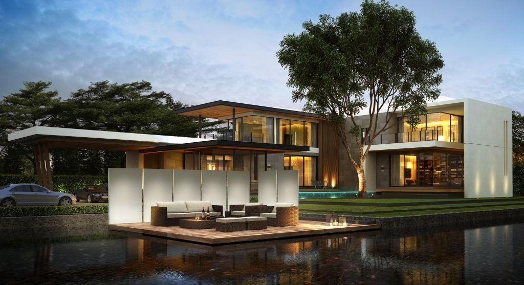 Knumox beton sehr modernes haus garten ist beleuchtet for Modernes betonhaus