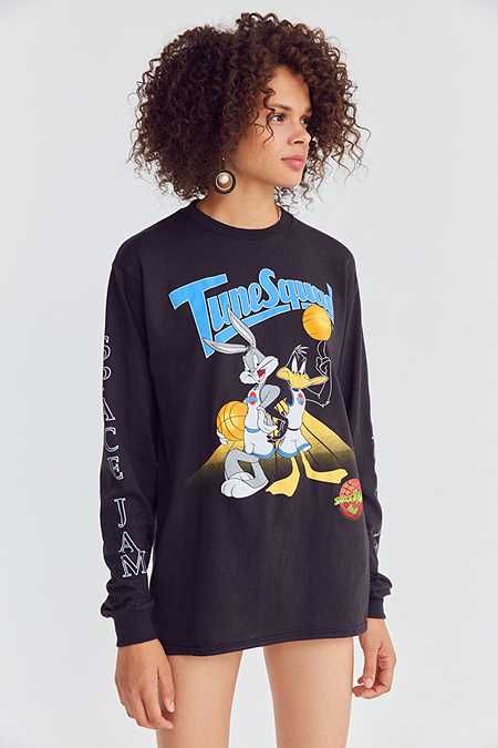 Junk Food Space Jam Long Sleeve Tee Clothes Design Long Sleeve Tees Long Sleeve Crop Top