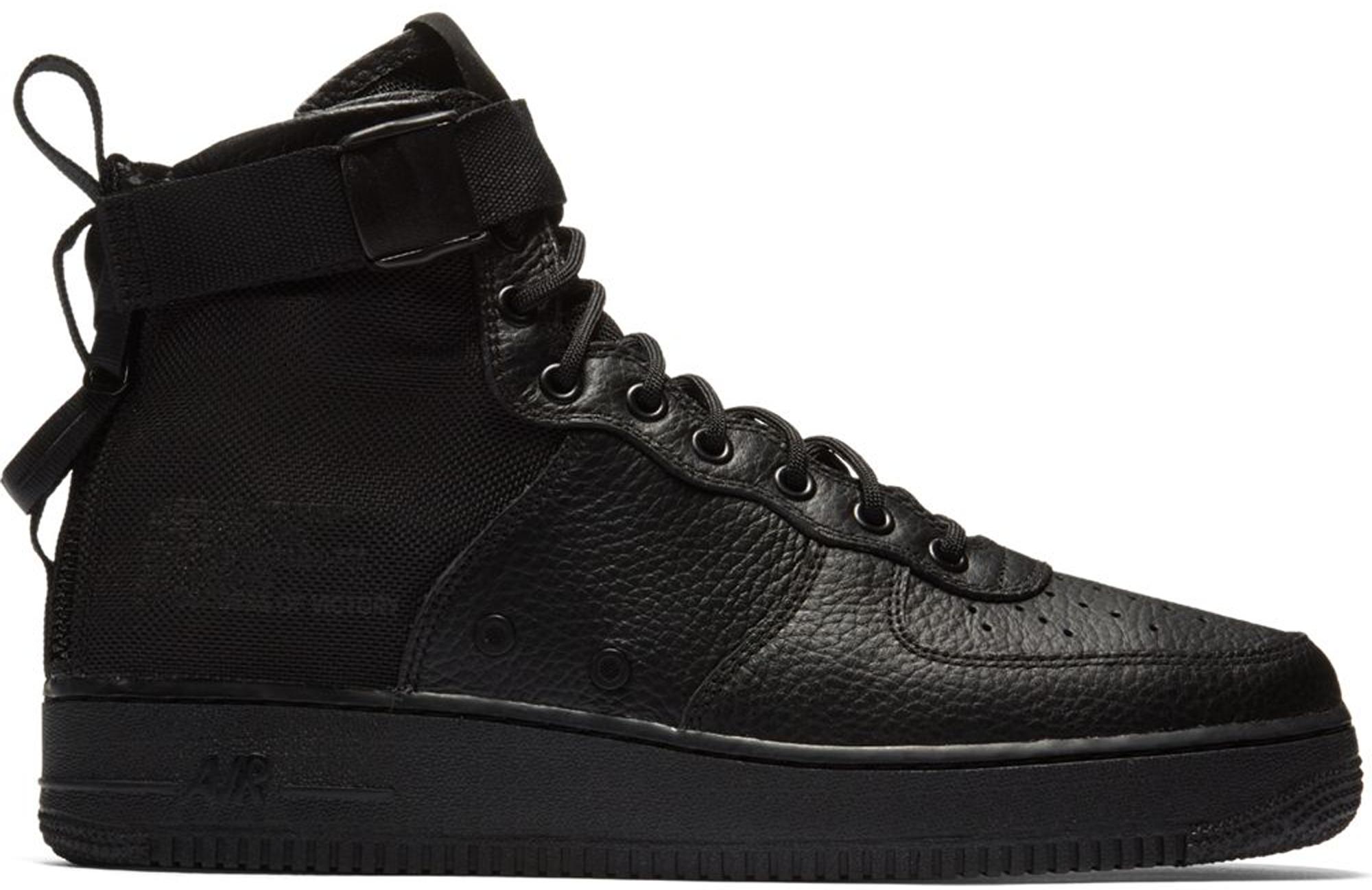 Nike Sf Af1 Black Leather Sneakers