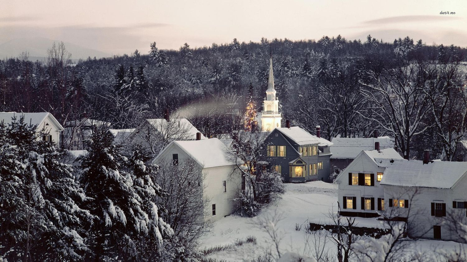 New Patients New England Winter Wallpaper Village